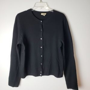J. Crew Gustoso Cashmere Black Sweater Size XL